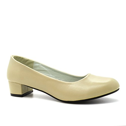 London Footwear ,  Damen Durchgängies Plateau Sandalen mit Keilabsatz Beige