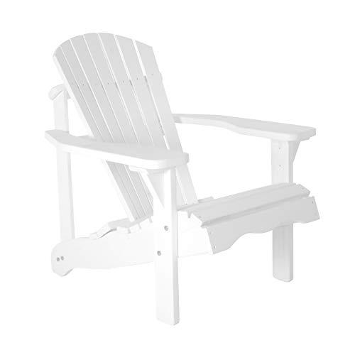 Gartenstuhl/Gartensessel Canadian Jumbo Adirondack Deck Chair aus Kiefernholz in weiß - Adirondack Liegestuhl