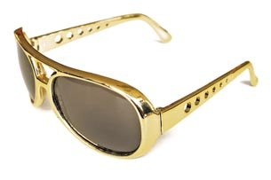 Elvis Kostüm Gold - Brille Elvis, Gold
