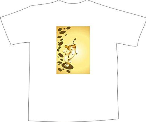 T-Shirt F1129 Schönes T-Shirt mit farbigem Brustaufdruck - Kind Tiger-Streifen Weiß