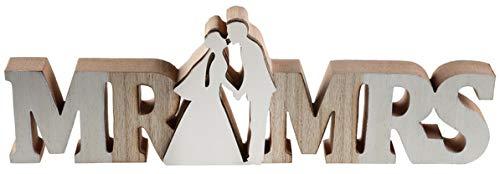 Santex Deko-Schild - Mr. & Mrs, aus Holz, Centrepiece für Hochzeiten, Landhaushochzeiten, Vintagehochzeiten