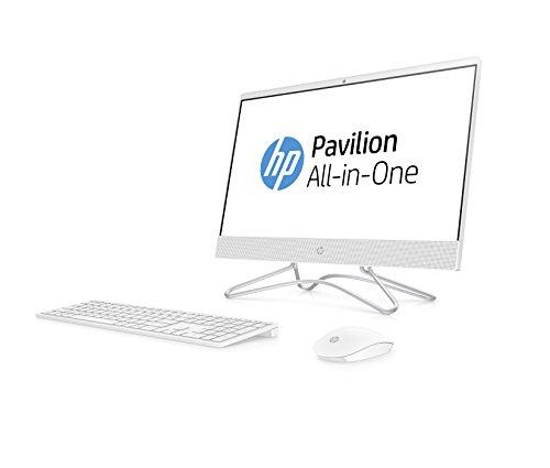 HP 22 -c0026ns - All in One Desktop-PC 22,2 cm (21,5 Zoll) FullHD (AMD A9-9425, 8 GB RAM, 256 GB SSD, AMD Radeon R5, kein Betriebssystem) weiß mit spanischer QWERTY-Tastatur und Maus