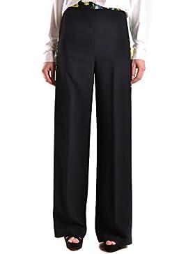 Msgm Hombre MCBI217044O Negro Acetato Pantalón