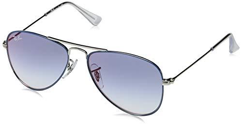 Ray-Ban Unisex-Erwachsene 0RJ9506S Sonnenbrille, Blau (Silver On Top Light Blue), 50