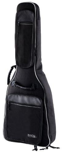 Rocktile 4/4 Klassik-Gitarrentasche Deluxe - gepolstert mit Rucksackgarnitur Gigbag für Konzertgitarre Schwarz -