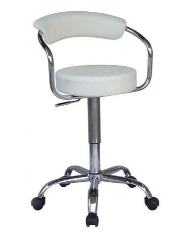 SixBros. Rollhocker Arbeitshocker Hocker Weiß - M-95026586