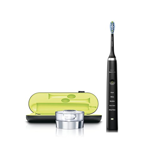 Philips Sonicare DiamondClean Electric Toothbrush – Black Edition 3rd Generation (UK 2-pin bathroom plug)