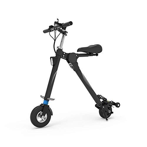 WJH9 Folding elektrisches Fahrrad E-Fahrrad-Roller aufladbarer Lithium-Ionen-Akku und Silent Ebike Tragbarer leicht zu lagern in Caravan, Wohnmobil, Boot Short,8.8ah25km