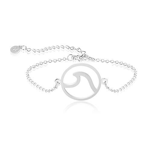 Good.Designs ® Wellen Armband für Frauen (verstellbar) Ocean Schmuck Silber silbernes Silver silberfarben silbernkette kettesilber silbernearmkette armkettchen armkettchensilber