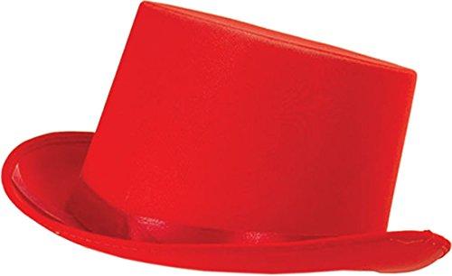 Erwachsene Unisex Junggesellinnenabschied Kostüm Party Club Kleidung Zubehör Promi Zylinder - Rot, Einheitsgröße, Einheitsgröße