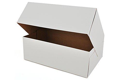25,4cm Länge x 16,5cm Breite x 8,9cm Höhe White Kraft Karton auto-popup Glückwunschkarte Donut Bakery Box by MT Produkte (15Stück)