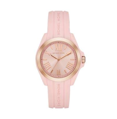 Michael Kors Damen Digital Quarz Uhr mit Silikon Armband 4.05143E+12 (Michael Kors Silikon)
