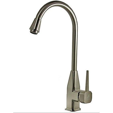 XMQC*Cucina calda e fredda acqua disegno tocca, adatto per bacino del piatto in acciaio inox Serbatoio acqua