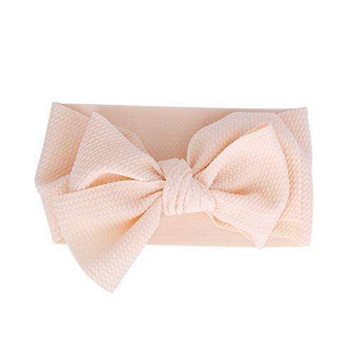 MIRRAY Stirnband Schleife Mode Baby Kinder Headwrap Bogen Knoten Elastisches Breit Haarband Stirnband ZubehöR Beige