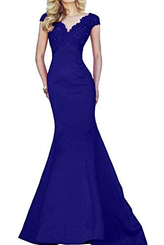 Toscane magie femme mariée asymétrique mermaid tuell abendkleider party ballkleider de longueur fixe bleu roi