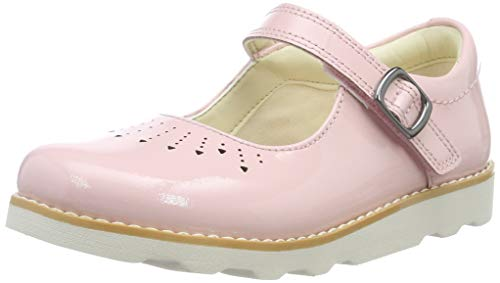 Clarks crown jump k, ballerine bambina, rosa pink pat, 29.5 eu