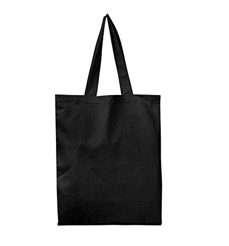 Set von 6-wiederverwendbar 100% Baumwolle Canvas Tote Tasche von bagzdepot   praktisch und umweltfreundlich Lebensmittels & Einkaufstaschen   Budget Friendly, Großhandel, dick Staubbeutel schwarz (Canvas Für Großhandel Taschen)
