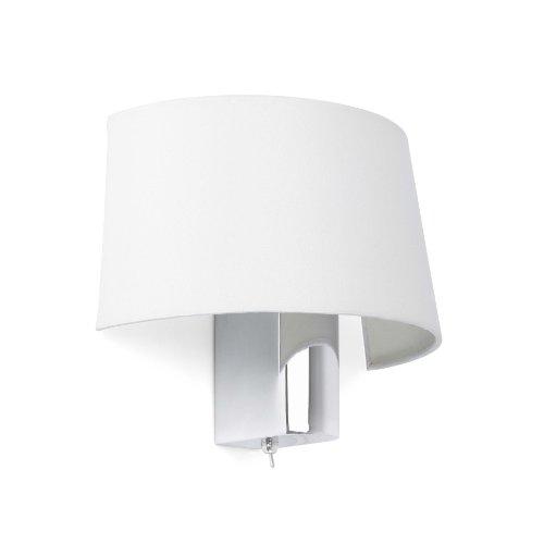 Ilumina tu hogar con este aplique de diseño moderno fabricado en metal y pantalla textil. Diseñada por: Alex & Manel Lluscà.