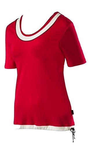Schneider Sportswear LUCY Damen Shirt Pulli T-Shirt BESTFORM Rot/Creme