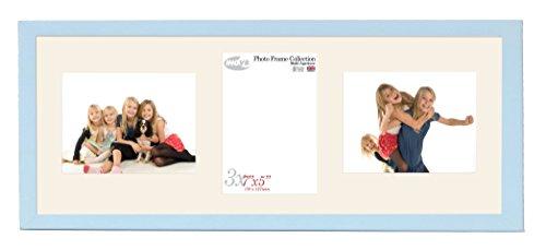 Inov8British Made Bilderrahmen/Fotorahmen, Value Sky Blau dreifach-App 7x 5x 2L/1P Zoll, 2Stück