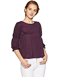 United Colors of Benetton Women's Quilted Regular Fit Top