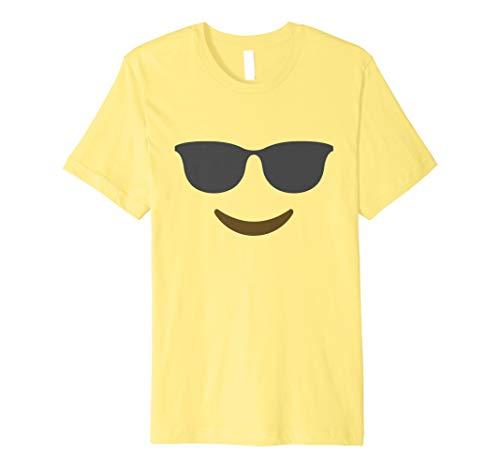 Halloween Emoji-Kostüm T-Shirt Funny Smile Sonnenbrille Tee