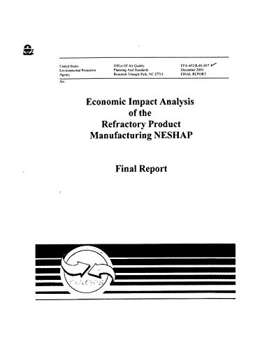Asphalt Roofing (Economic Impact Analysis Of The Proposed Asphalt Roofing And Processing NESHAP (English Edition))