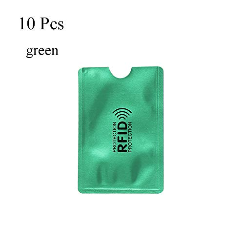10Pcs Safety Credit Cards Bank Anti-Theft Protect Case Cover Sleeve Wallet Card Holder RFID Blocking (Security Card Shield)