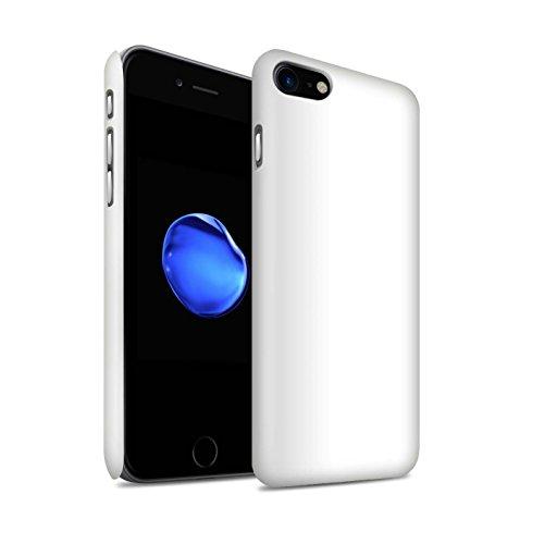 STUFF4 Matte Snap-On Hülle / Case für Apple iPhone 7 Plus / Hellblau Muster / Farben Kollektion Weiß