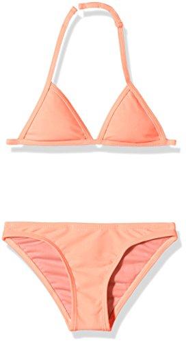 Miami Beach Swimwear Mädchen Triangel-Bikini, Rosa (Intense Coral 400), 140