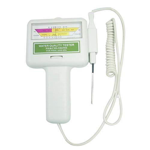 Panamami PH CL2 Chlor Tester Digital Wasserqualität Monitor Tragbare für Schwimmbad Spa Aquarium Hydrokultur PH Meter Test - Weiß