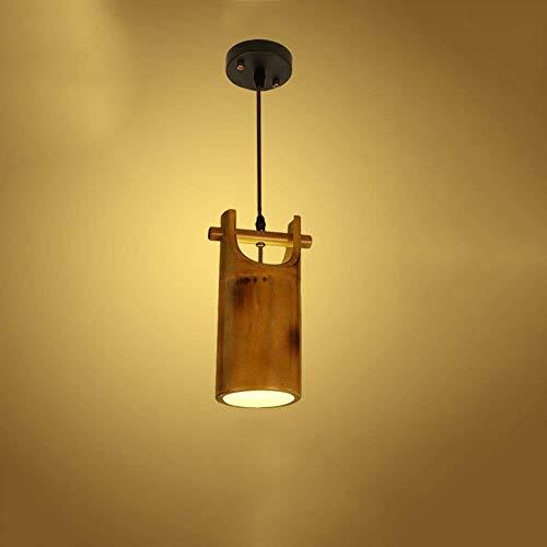 Xiaochou@s Vintage-Stil Einzelkopf Bambus Deckenleuchte Landhausstil Antikes Restaurant Bambus Deckenleuchte für Schlafzimmer Wohnzimmer Dessert-Shop Bar Cafe Lampe Erleuchtung Antike Dessert