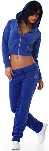 Jela London - Ensemble sportswear - Uni - Manches Longues - Femme Bleu - Bleu