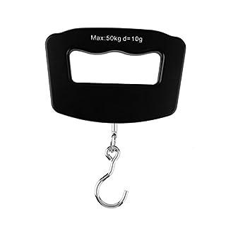 Galapara Digitale Hängewaage Mini Hand Held Plastic 50kg LCD Digital Fishing Hanging Electronic Scale Pocket Hook Weight Luggage Scale