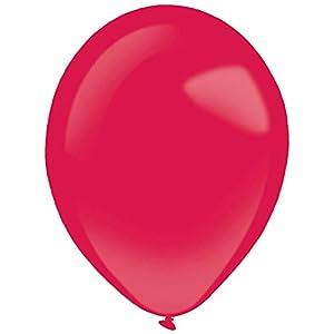 amscan 9905375 - Globos de látex (50 Unidades), Color Rojo
