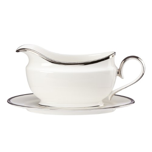 Lenox Soiltaire Sauce Boat and Stand, White Lenox Sauce Boat