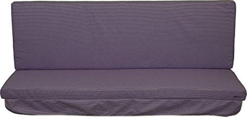 Hollywoodschaukel Comfort Schaukelauflage Kissen 3 Sitzer Streifen lila Weiss mit abnehmbarem Bezug 100{6ac0b8bb3a2655730567658cbaec7925072816989b2788ffa478c170e0847786} Dralon