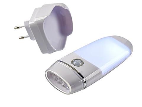 LED Nachtlampe mit Bewegungssensor, nutzbar auch als Taschenlampe, Induktionsladung