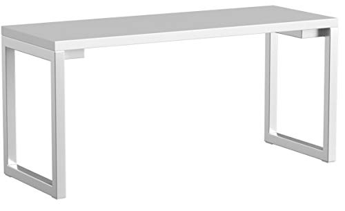 Riess Ambiente Design Laptoptisch WHITE DESK 160x60 cm hochglanz weiß Schreibtisch Büro Konsole Konsolentisch Bürotisch