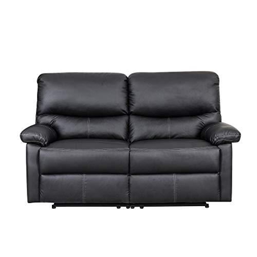 Feinste Italienische Design-möbel (Krispich Ledersofa Kinosofa Relaxcouch Fernsehsofa 2/3-Sitzer-Sofa Interior Relaxsessel Schwarz)