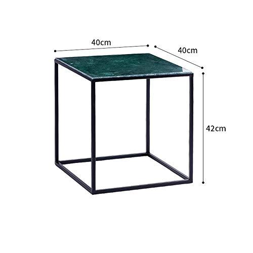 Fufu tavolo comodino in marmo, comodino da comodino con struttura in metallo per soggiorno camera da letto 15.7