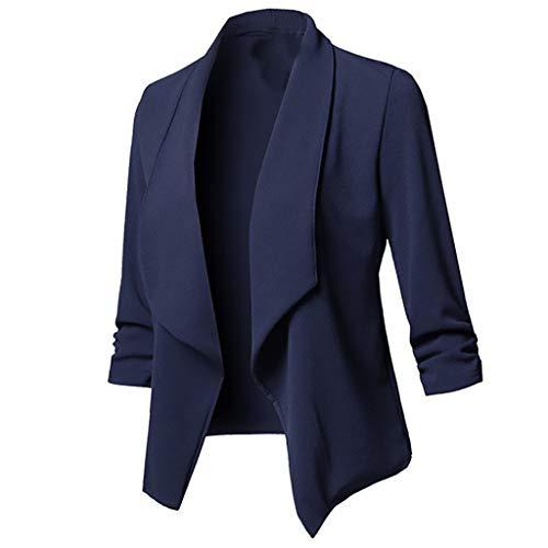 ZYUEER Damen Oberteile Elegant Plus Size Einfarbige Strickjacke Mit Offener Vorderseite Und Langen Ärmeln FüR Frauen T-Shirt Bluse Tops Shirt