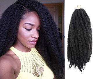 Scopri offerta per Afro Kinky Twist Hair Crochet Braids Ombre Marley Braid Hair 18inch Senegalese Curly Crochet Synthetic Braiding Hair (4-Pieces, 1B)