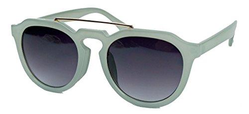 Retro Sonnenbrille in Pantoform Pantobrille für Damen Herren Metal Bridge Metallsteg FARBWAHL MB36 (Grau)
