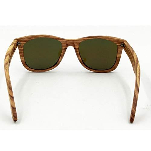 Yiph-Sunglass Sonnenbrillen Mode Vintage Niet Dekoration Natürliche Zebra Holz Sonnenbrille Polarisierte Linse UV-Schutz Für Männer Frauen. (Farbe : Schwarz)