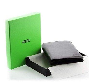Grand portefeuille en cuir noir N1644 portefeuille homme /carte d'identité, permis de conduire, certificat d'immatriculation 11 x 15 cm