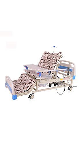 Lit d'hôpital électrique avec fonction d'infusion, fonction de levage du dos, de rotation du lit d'allaitement multifonction pour personnes âgées Paralyse