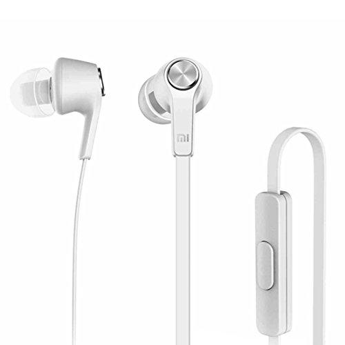 Xiaomi Basic Edition In-Ear Kopfhörer mit Fernbedienung & Mikrofon für iPhone iPad iPod Xiaomi Samsung Huawei Laptop PC Mac MP3 Player und weitere in silber (Xiaomi Over-ear-kopfhörer)