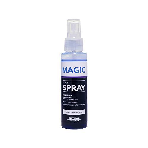 Anti-Gelbstich Spray Sofortwirkung Für Blondes, Blondiertes, Gesträhntes, Graues Haar | (100ml) Divano Sprühkur Magic Silberspray