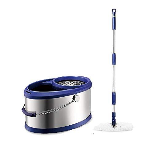 DEI QI 360 ° Rotary Mop Mop verdicken Edelstahl Eimer versenkbare Mop Bar Handwäsche Mop Haushalt Slip Holzboden Fliesen Marmor mit Eimer Mop Mopp Bar Mop